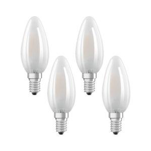 4er-PACK-OSRAM-LED-STAR-Classic-B40-E14-Filament-Matt-2700K-4W-40W-Kerzenlampe