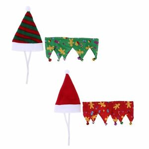 Christmas-Pet-Santa-Hat-Neck-Collar-for-Small-Puppy-Cat-Dog-Xmas-Holiday-Costume
