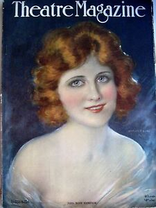 "Bright Vintage Sept.1920 ""theatre Magazine"" W/hope Hampton Pictured By Hamilton King N* Art Deco"