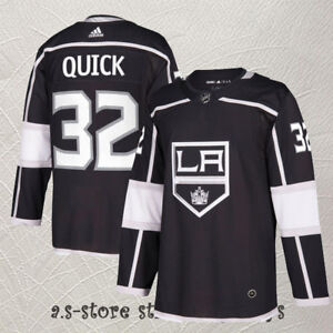 on sale 06bc0 0608a Details about #32 Jonathan Quick Los Angeles Kings Hockey Jersey LA Kings  Black Men M-3XL
