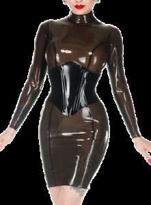 latex catsuit wild bag hip skirts waist corset dress sexy