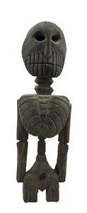 Antica Statua Tibetano Citipati Scheletro Testata Da Morto - Himalaya- 6656