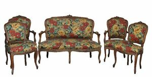 salon-rocaille-en-noyer-style-Louis-XV-5-pieces-tapisse