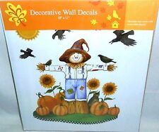 Decorative Wall Decor  SCARECROW IN FIELD OF PUMPKINS W/ CROWS