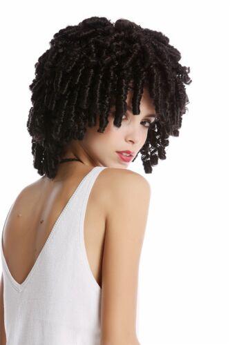 Wig Black Corkscrew Curls Fast Rasta Volume Caribbean Voodoo Witch