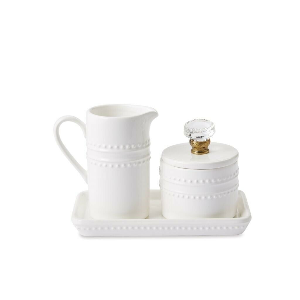 Mud Pie E1 Circa Coffee Break Stacking Cream /& Sugar Set 4pc Set 47800006