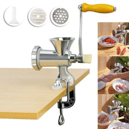 Table Hand Manual Meat Grinder Mincer Stuffer Sausage Pasta Filler Maker Machine