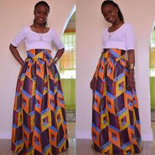 a9d853d673d8 African Dashiki Print Women's High Waist Party Boho Ankara Maxi Long Skirt  Dress
