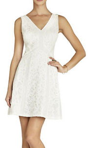 338 Bcbg Off White Combo Quot Gracie Quot Sequin Lace Sleeveless