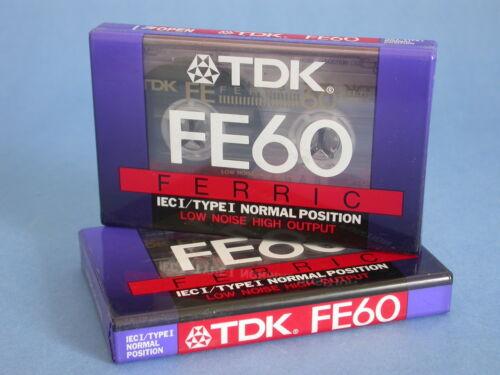 TDK FE60 Audio Cassette X2 Sealed