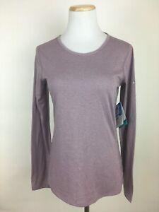 Columbia-Kestrel-Trail-Long-Sleeve-T-Shirt-Women-039-s-XS-Lavender-Omni-Freeze-Zero