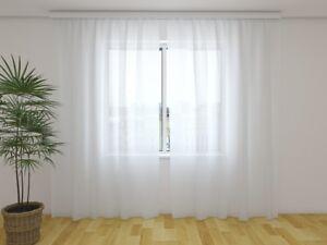 Vorhang Schallabsorbierend Dekoration : Gardine aus chiffon weiß vorhang ohne motiv transparent auf maß