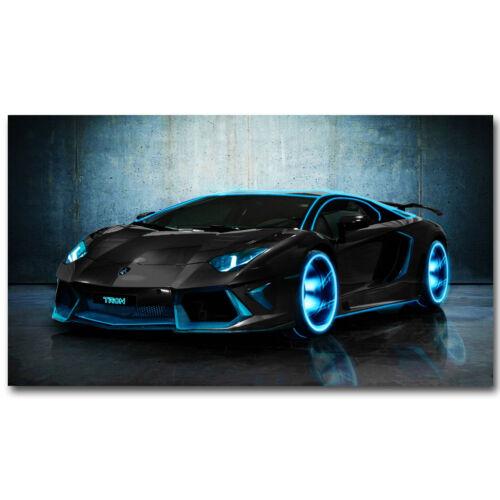 "Lamborghini Aventador Sports Cars Art Fabric Poster Wall Decor 22X33/"""