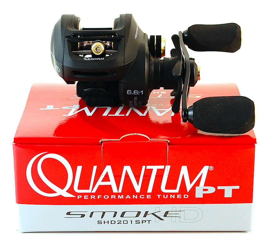 QUANTUM SMOKE HD SHD201SPT 6.6 1 GEAR RATIO LEFT HAND  BAITCAST REEL  cheap and top quality