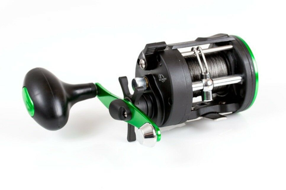 Fladen Sea Fishing  Multiplier Reel 4920 Fitted with Braid line for beach rod