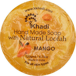Khadi-Herbal-Hand-Made-Soap-amp-Loofah-Mango-120-GM