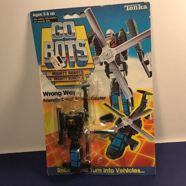 VINTAGE GO BOTS ACTION FIGURE ROBOT TRANSFORMER 1984 TONKA TOYS WRONG WAY MOC