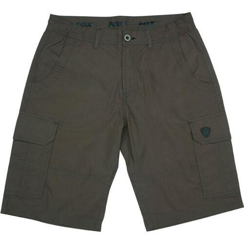 Bekleidung Hosen & Shorts Fox Green & Black Lightweight Cargo Shorts Gr.XL Herrenshorts kurze Hose Sommer