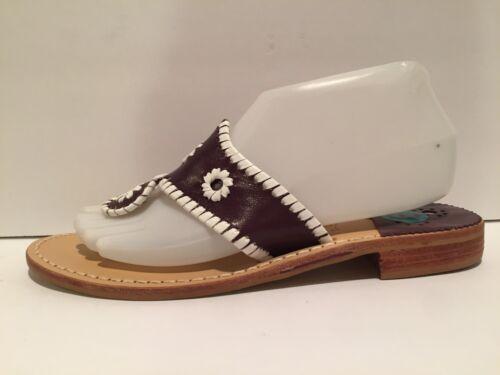 8m Jack Navajo Chancla Plana Rogers Cuero Lila Sandalias Blanco CFCw8raq