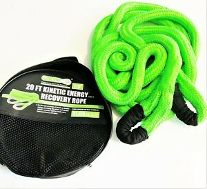 45,000 Lbs - 3 Year Warranty Orange Kinetic Recovery Rope Recoil Tow Rope 1 X 20