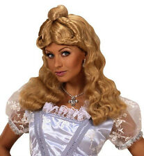 Onorevoli lunga parrucca bionda Goldilocks SPILLA CENERENTOLA ALICE FAVOLA Fancy Dre