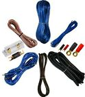 0 GAUGE AMPLFIER POWER KIT AMP INSTALL WIRING COMPLETE 1/0 GA CABLES 6500W BLUE
