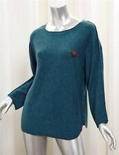 ZADIG & VOLTAIRE Teal Green Cashmere Wolf Pin Pullover Sweater sz. Medium NEW
