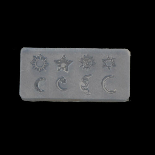 Mini Size Moon Star Sun Resin Jewelry Fillings Resin Silicone Mold Jewelry Tools