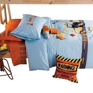 kas kinder bettw sche baustelle baufahrzeug bestickte. Black Bedroom Furniture Sets. Home Design Ideas