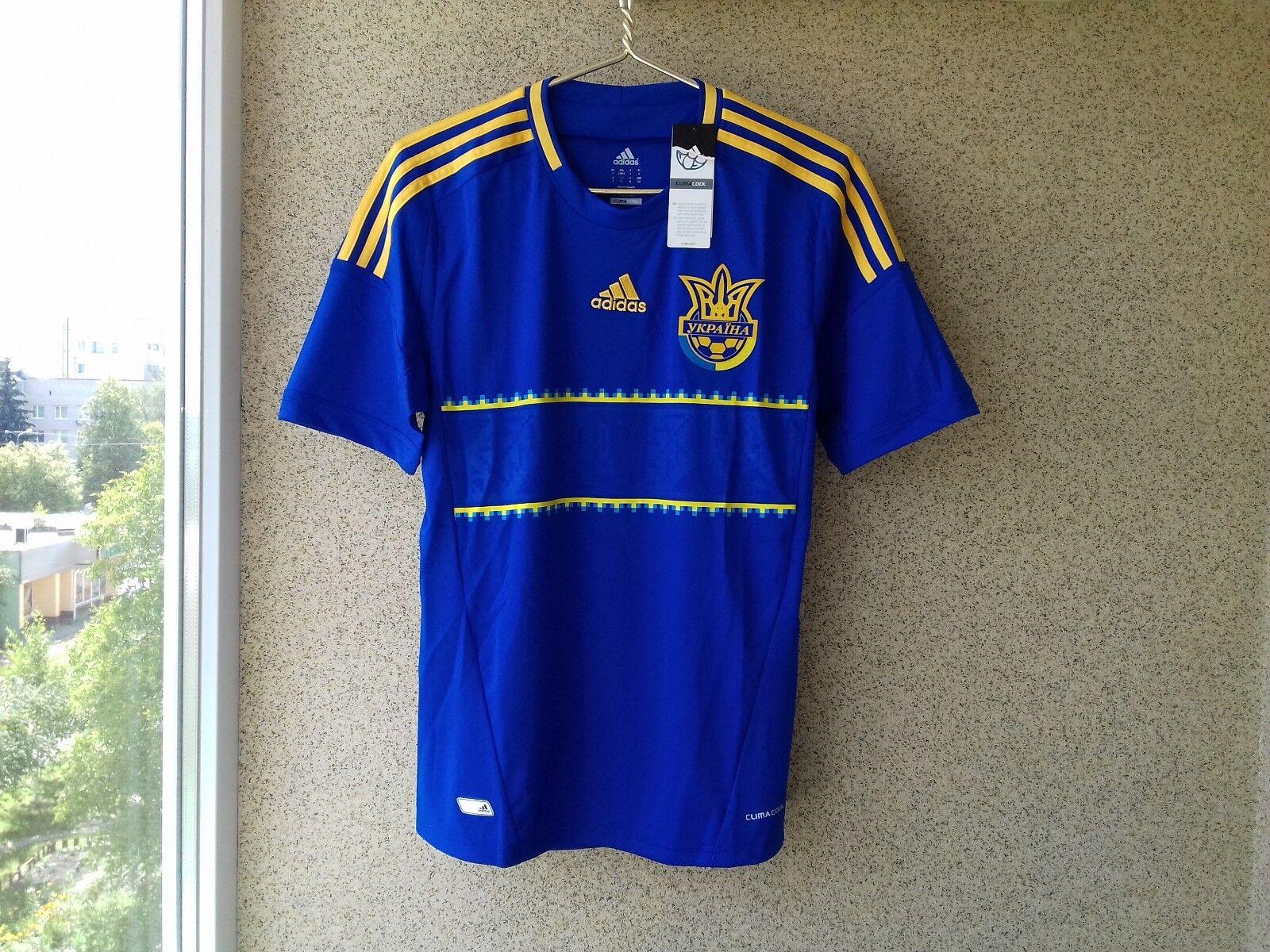 1d8b3187ab9 Ukraine Away football shirt 2012 2013 S Adidas Camiseta Soccer Jersey  nrlzrd3717-Men