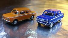 ** Herpa 451604 NSU TT 2 Car Pack 1 Orange and 1 Blue Car 1:87 HO Scale