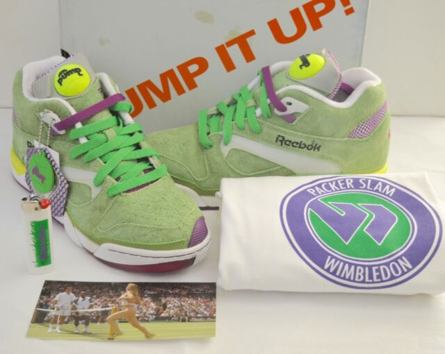 a09d6669d72d New Reebok Court Victory Pump Packer Slam Green White w Sticker Lighter