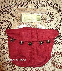 Longaberger-2011-Holiday-Helper-Jingle-Bells-Basket-Liner-With-Bells-New-In-Pack