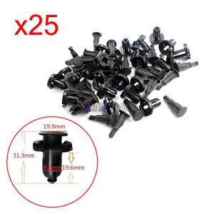 25-Piezas-Frontal-Parachoques-Trasero-91503SZ5003-sujetador-de-retencion-de-clip-para-Honda