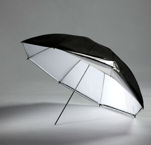 "GTX Studio 40"" Black/White Umbrella with 10 Panels"