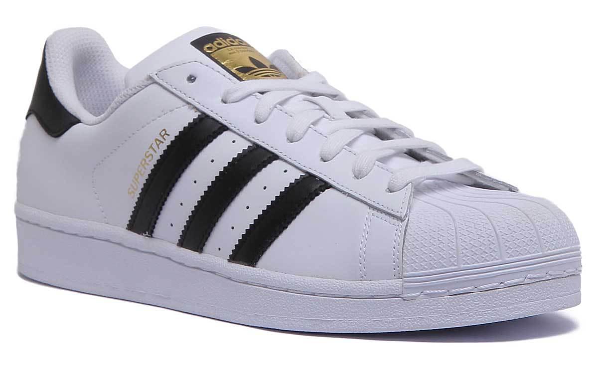 Adidas Superstar Unisex De Grado B blancooo Negro Baloncesto Zapatillas tamaño de Reino Unido 3 - 12