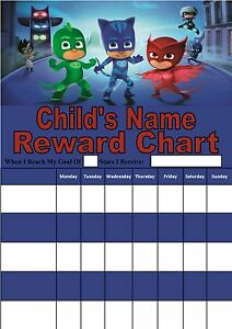 Personalised Pj Masks Reward Chart Potty Training