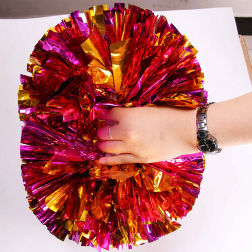 2PC Handheld Poms Cheerleader Dance Wear Hen Party Fancy Dress Accessory 6Colors