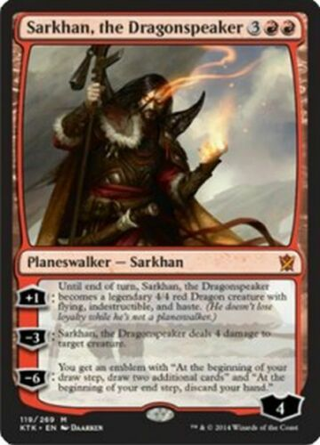 MINT! KHANS OF TARKIR MTG MAGIC THE GATHERING SARKHAN THE DRAGONSPEAKER