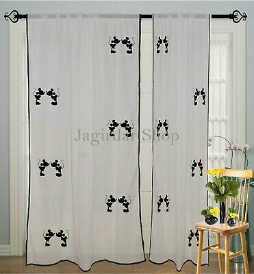 mickey mouse Curtain Kids room Cartoon print Window Curtains