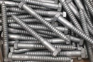 15-Galvanized-Hex-Head-5-8-x-6-Lag-Bolts-Wood-Screws