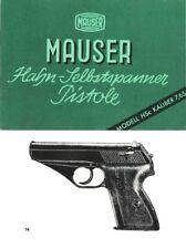 Mauser HSc Pistol Manual (German)
