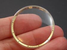 Vintage Yellow Radium Tensn Rng Mido 33mm Watch Crystal #21 wider Permafit Wtrpf