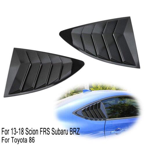 Carbon Fiber Window Side Louver Cover Trim For Toyota 86 Scion FR-S Subaru BRZ