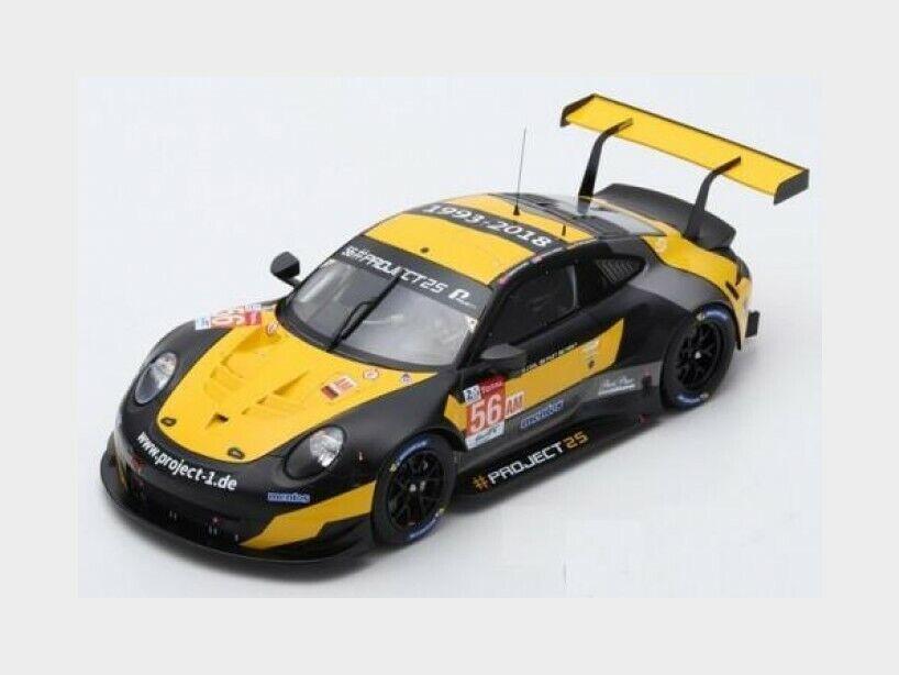 Porsche 911 991 Rsr Le Mans 2018 J.Bergmeister P.Lindsey SPARK 1 18 18S396