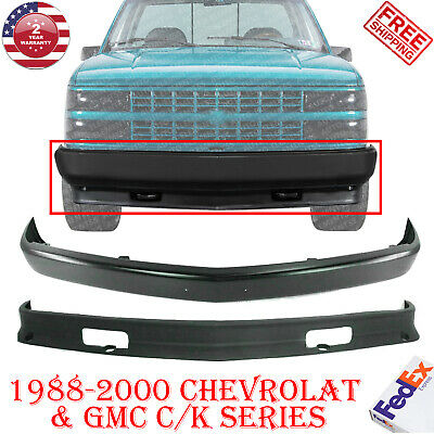 Front Bumper Painted Black Lower Valance For 1988 2000 Chevy Gmc C K Series Ebay