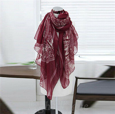 New Fashion Women Lady Long Soft Cotton Print Scarves Shawl Wrap Scarf