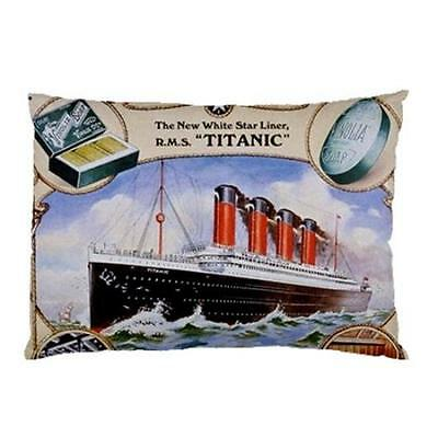 RMS Titanic Soap Advertisement Two Side Bed Pillow Case