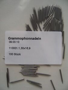 100-Grammophonnadeln-78rpm-Schellackplatte-Mittelaut-medium-needles