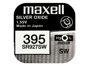 Maxell 395 Pila Batteria Orologio Mercury Free Silver Oxide Sr927sw Japan 1.55v ArôMe Parfumé